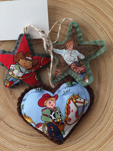 Western Ornaments - Set of 3