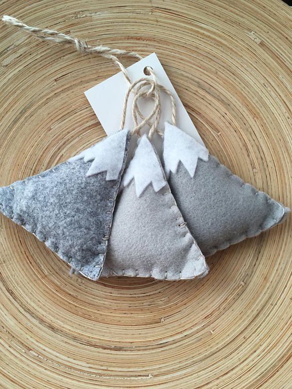 Mountain Ornaments - Set of 3