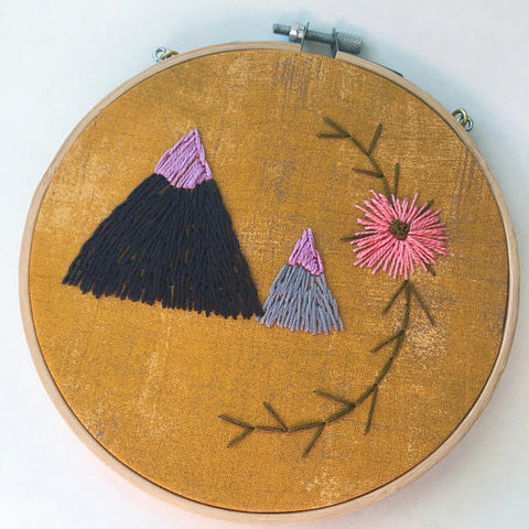 Mountain Embroidered Hoop