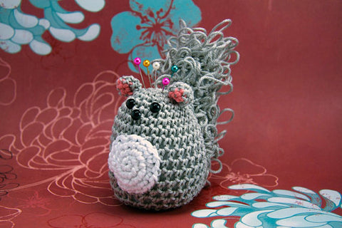 Light Sage Crochet Squirrel