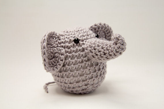 Light Sage Crochet Elephant