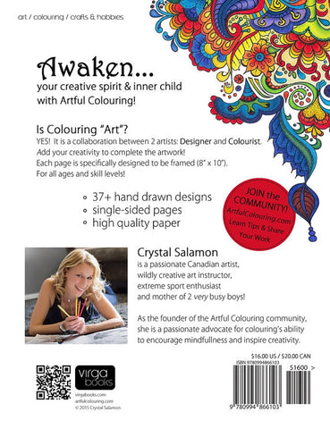 Awakening Artful Colouring Book