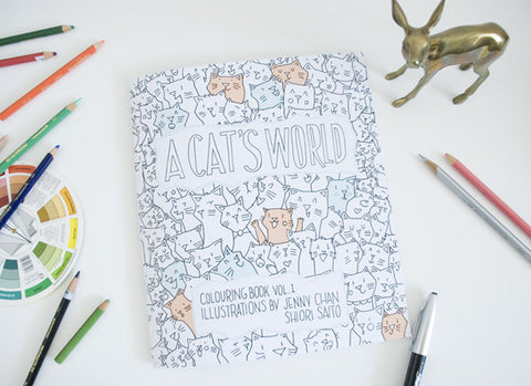 A Cat's World Colouring Book