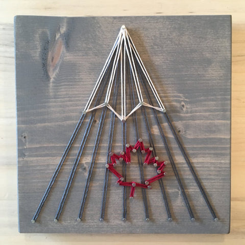 Maple Leaf Mountain String Art