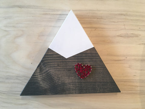 Heart on Mountain String Art