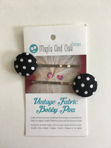 Vintage Fabric Bobby Pins