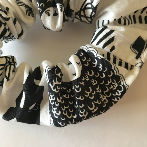 Black & White Zoo Scrunchie