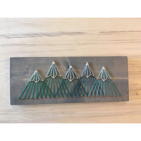 Five Peak Mountain String Art