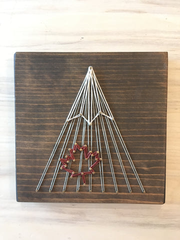 Maple Leaf Single Peak Mountain String Art