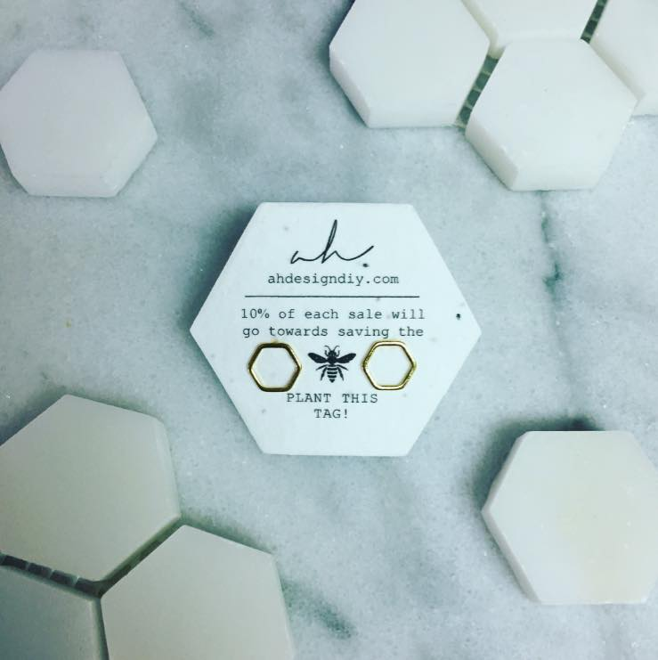 Elvina Open Hexagon Studs