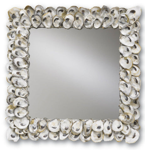 Oyster Shell Mirror - Coastal Cottage Home