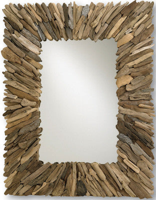 Driftwood Mirror - Coastal Cottage Home
