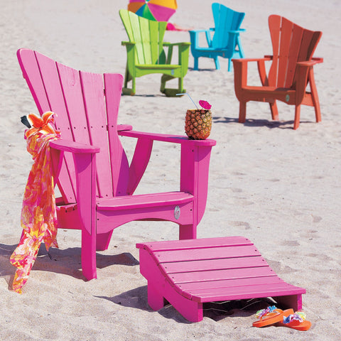 Wave Chair with footrest Flamingo - Coastal Cottage Home