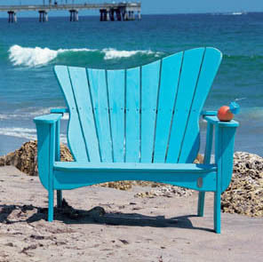 Wave Settee - Coastal Cottage Home