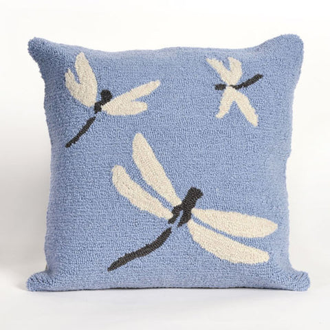 Dragonfly Blue Pillow - Coastal Cottage Home