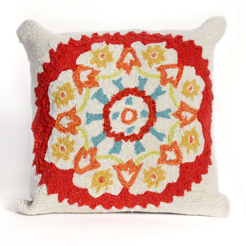 Suzanie Red Pillow - Coastal Cottage Home