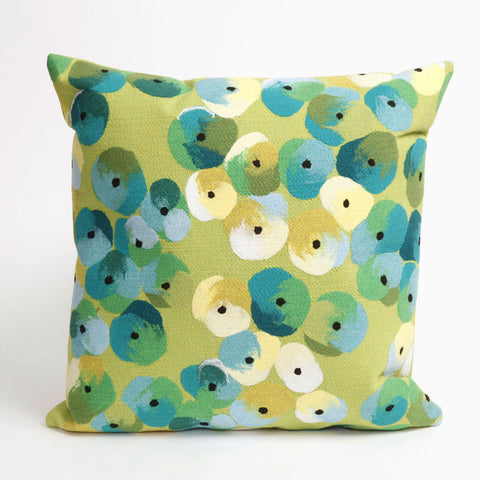 Pansy Lime Pillow - Coastal Cottage Home
