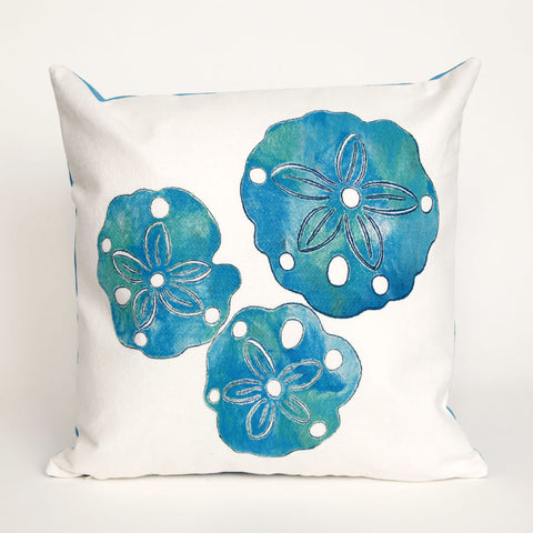 Sand Dollar Pearl Pillow - Coastal Cottage Home