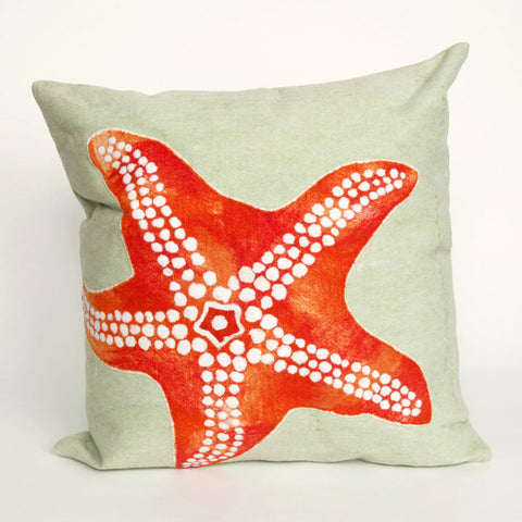 Starfish Pillow - Coastal Cottage Home