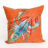 Lobster Orange Pillow - Coastal Cottage Home