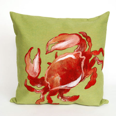Red Crab Pillow - Coastal Cottage Home