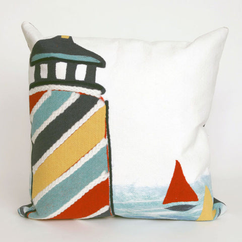 Lighthouse Pillow - Coastal Cottage Home