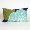 Disco Flower Blue Pillow - Coastal Cottage Home