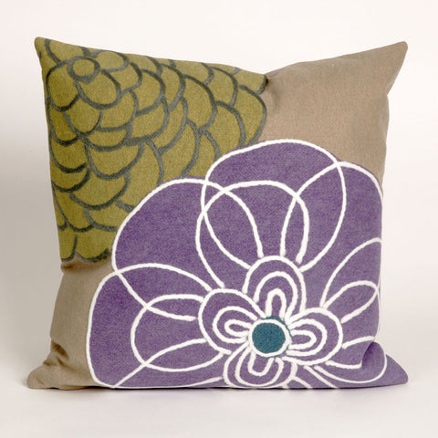Disco Flower Purple Pillow - Coastal Cottage Home