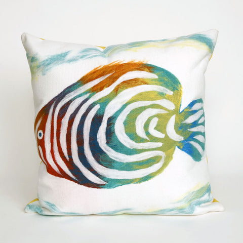 Rainbow Fish Pearl Pillow - Coastal Cottage Home