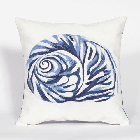 Shell Blue Pillow - Coastal Cottage Home