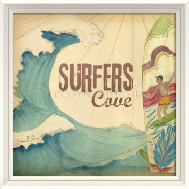 Surfers Cove Sign - Coastal Cottage Home