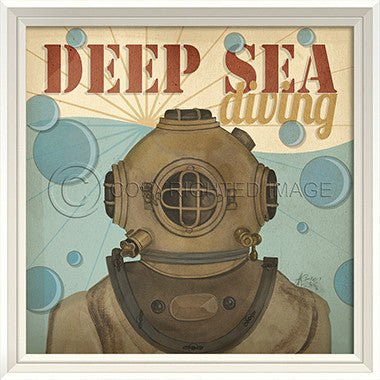Deep Sea Diving Sign - Coastal Cottage Home