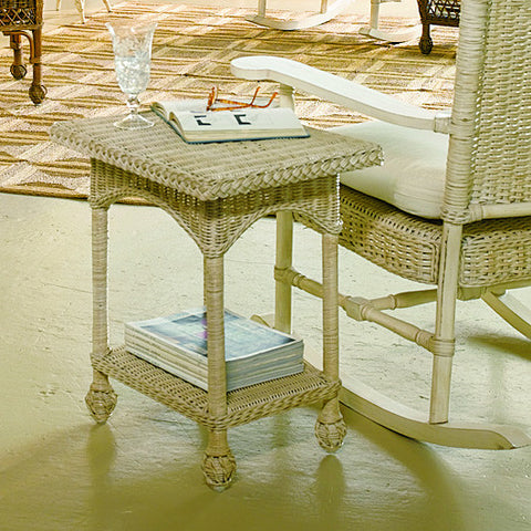 Eastern Shore Drink Table Antique White - Coastal Cottage Home