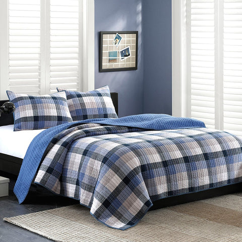 Maddox Blue Quilt Set - Coastal Cottage Home