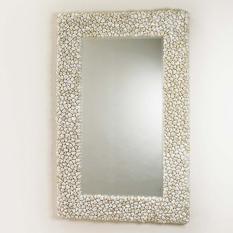 Silver Shelled Mirror - Coastal Cottage Home