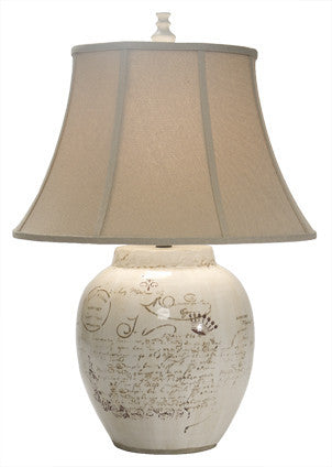 Script Jar Table Lamp - Coastal Cottage Home