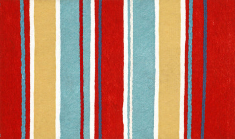Sailor Stripe Door Mat - Coastal Cottage Home