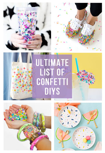 Confetti Inspired DIYs (The Ultimate List)