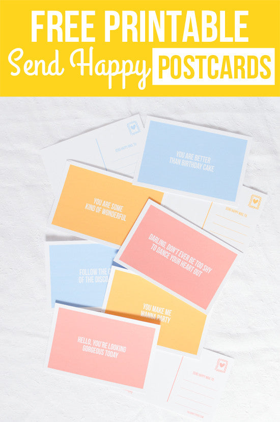photo relating to Printable Postcards Free titled Send out Satisfied Cost-free Printable Postcards The Confetti Write-up