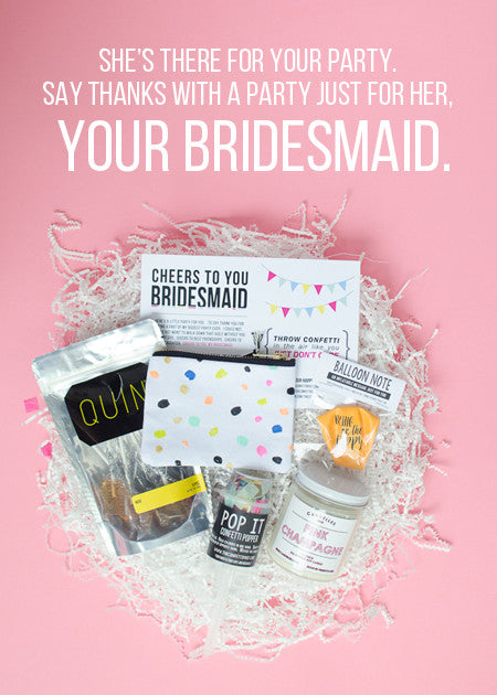 Say Hello //  Cheers Bridesmaid Gift Package
