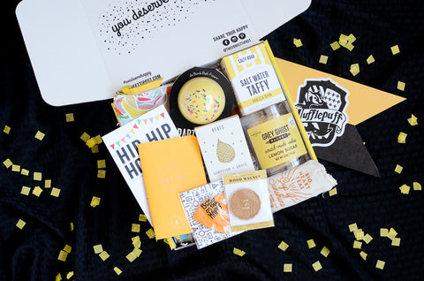 Hufflepuff Inspired Care Package_Back to Hogwarts Day_Build Your Own Gift Box