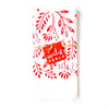 Cherry Red Floral Tea Towel