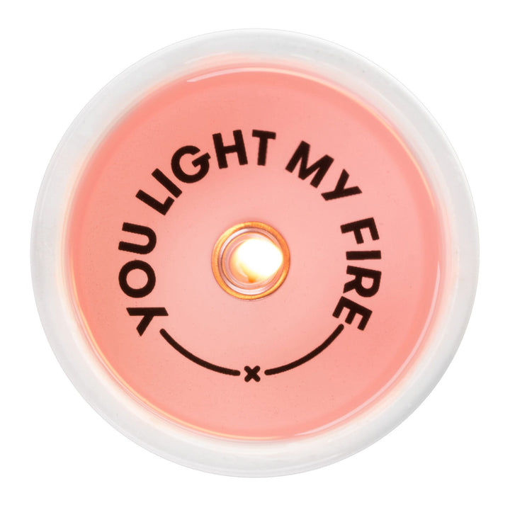You Light My Fire Secret Message Candle