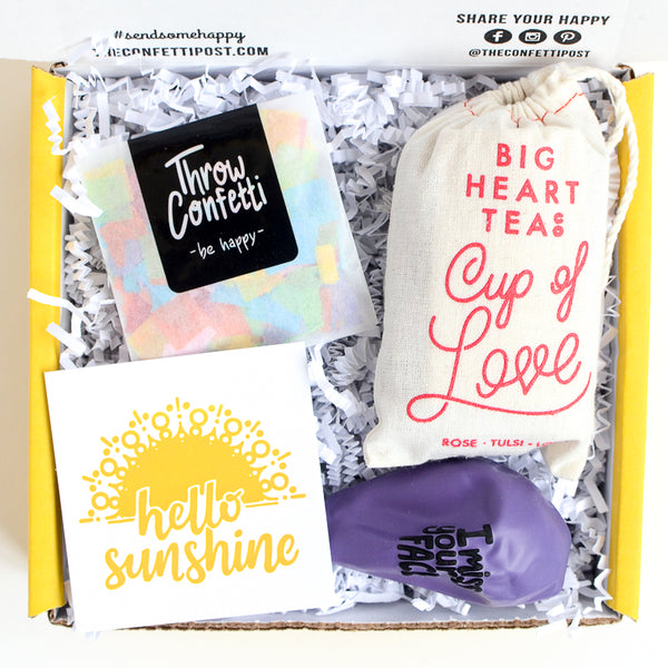 Hello Sunshine Gift Box Thinking of you gift Get well care package