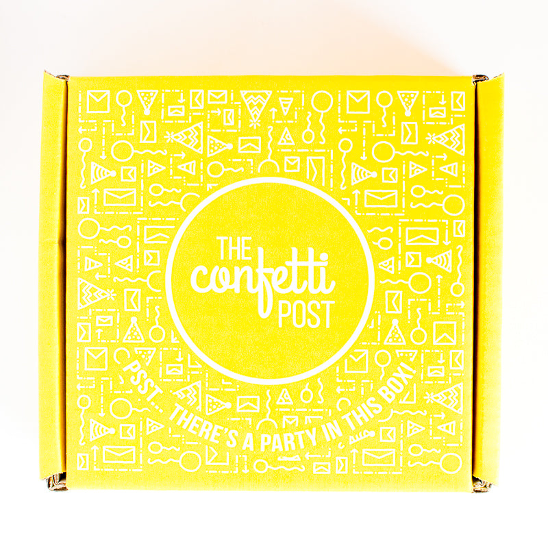 Yellow Box of Happiness_The Confetti Post Care Packages