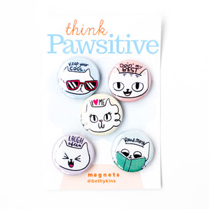 Pawsitive Vibes Cat Magnets