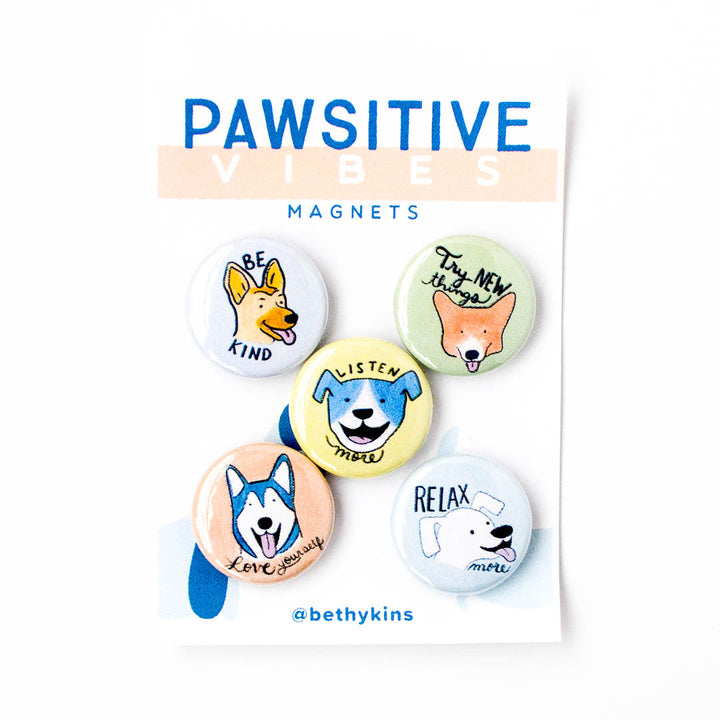 Pawsitive Vibes Dog Magnets