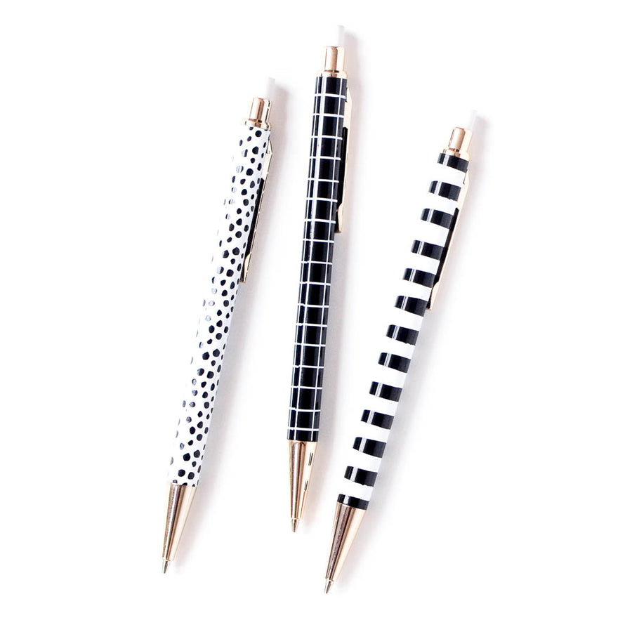 Mod Black and White Mechanical Pencils