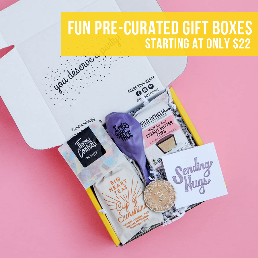 The Confetti Post Send Some Happy With Party Themed Care Packages