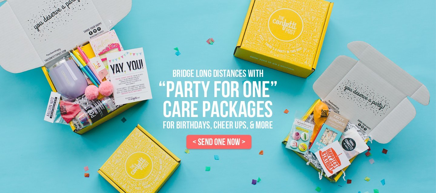 a7dc0004 The Confetti Post | Send Some Happy with Party Themed Care Packages